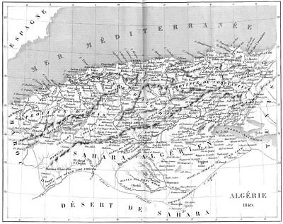 ALGERIA. Afrique Africa. Algeria 1849 1875 old antique vintage map plan chart