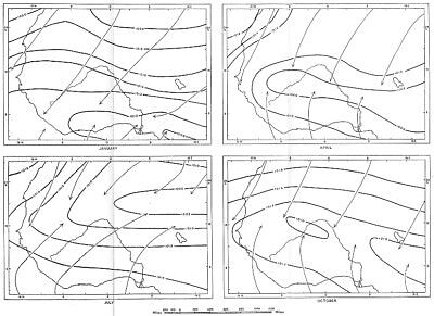 TOGO. Togo. Isobars and Winds of the Federation 1944 old vintage map chart