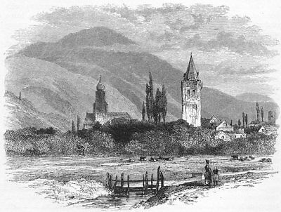 GERMANY. The Black Forest. Gingenbach, a Black Forest Village c1893 old print