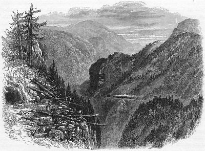 GERMANY. The Black Forest. The Black Forest Railway c1893 old antique print
