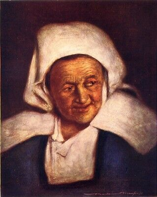 BRITTANY. An old woman 1905 antique vintage print picture