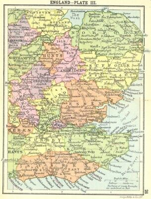 ENGLAND. England-Plate III; Small map 1912 old antique vintage plan chart