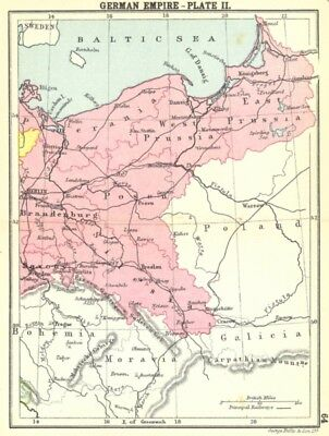 GERMANY. German Empire-Plate II; Small map 1912 old antique plan chart