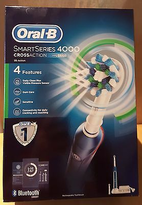Oral-B Smartseries 4000 Cross Action Electric Toothbrush -4 Features- Brand New!