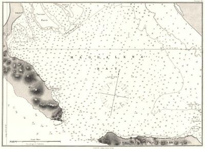 MEXICO. Sea chart of Magdalena Bay 1881 old antique vintage map plan