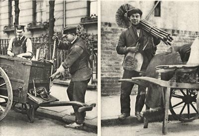 LONDON. Chimney sweep and gas fitter 1926 old vintage print picture