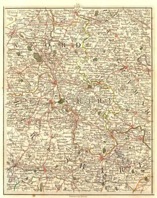 THAMES VALLEY & CHILTERNS.Oxford Reading Henley Marlow Maidenhead.CARY 1794 map