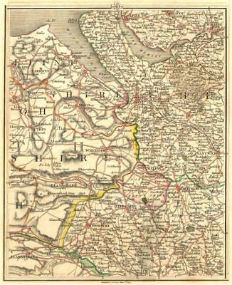 MERSEYSIDE NE WALES CHESHIRE N SHROPS.Liverpool Warrington Chester.CARY 1794 map