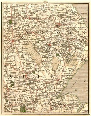 LINCOLNSHIRE.Fens Lincoln Grantham Boston Spalding Louth Sleaford.CARY 1794 map