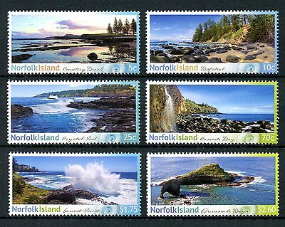 Norfolk Island 2014 MNH Shorelines Part II 6v Set Trees Beaches Tourism Stamps