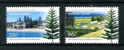 Norfolk Island 2014 MNH Joint Issue JIS Australia Pines 2v Set Trees Stamps