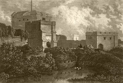 CUMBRIA. Carlisle Castle, Cumberland. DUGDALE 1845 old antique print picture