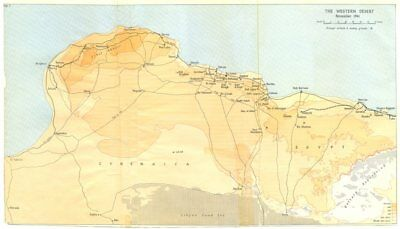 AFRICA. The Western desert November 1941 1960 old vintage map plan chart