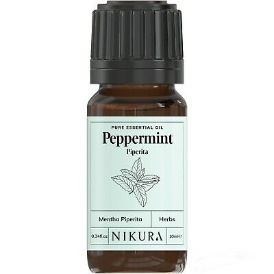 Peppermint (Piperita) Essential Oil 10ml, 50ml, 100ml, 500ml, 1 Litre Nikura