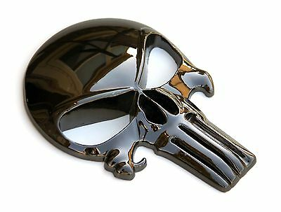"""Large 5"""" 3D Metal Decal / Sticker - Punisher Skull for Car, Truck and Motorcycle"""