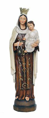 Our Lady of Mount Carmel Catholic Religous Figurine Sculpture 12 Inch