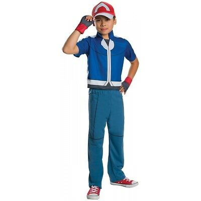 Ash Costume Kids Pokemon Halloween Fancy Dress