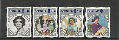 Bermuda 1985 Life And Times Queens Mother Sg,494-497 U/m Nh Lot 2995A