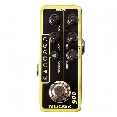 Mooer Micro Preamp 006 US Classic Deluxe Guitar Effect Pedal Footswitch Stompbox