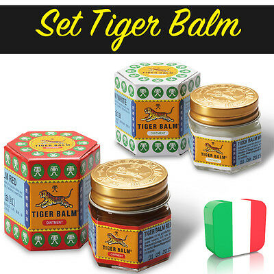 SET di Balsamo di tigre Rosso e Bianco / RED AND WHITE TIGER BALM - 18,4 gr.