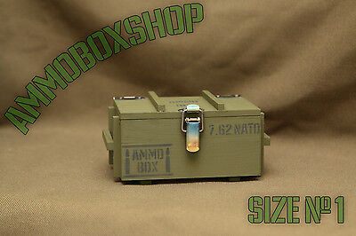 Ammo Box Small Casket Ammunition Drawer Cartridges crate Storage Wood Size1