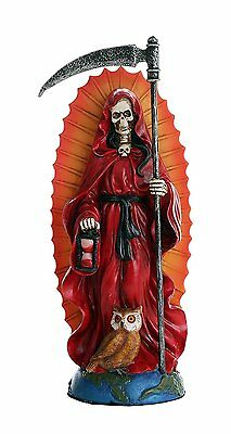 Santa Muerte Saint of Holy Death Standing Religious Statue 7.25 Inch (Red) Love