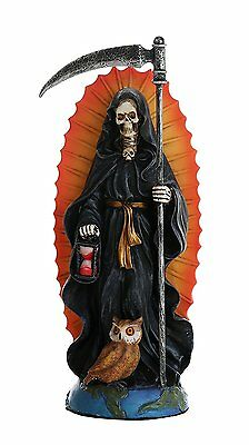 Santa Muerte Saint of Holy Death Standing Religious Statue 7.25 Inch Black Magic