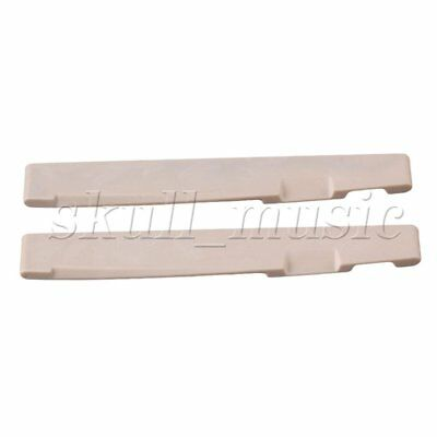 2pcs PPS Plastic Steel Saddle for Folk Acoustic Guitar Replacement BQLZR