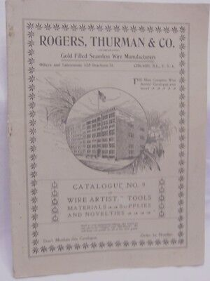 1890's Rogers, Thurman & Co. Jewelry & Jewelry Supplies Catalog No. 9