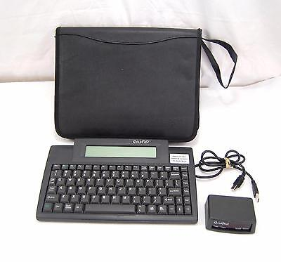 Quickpad Wireless Keyboard Word Processor with Case Receiver USB Cable Tested