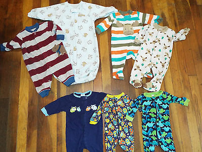 Baby boys 0-3 months sleepers lot