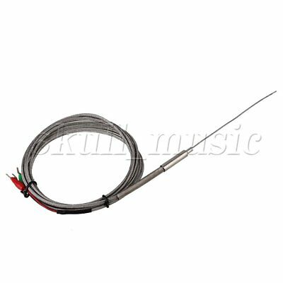 1.0 x 100mm EGT Thermocouple 2m K Type Temperature Probe Sensors 5mm Thread