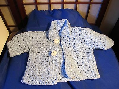 Hand Made Baby Blue Sweater 3-6 Months
