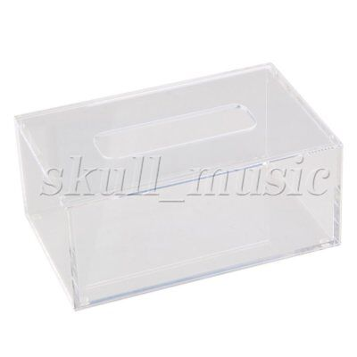 196 x 125 x 84mm Acrylic Rectangular Tissue Box Case Transparent