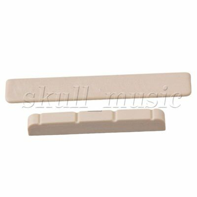 2 In 1 Slotted Nut 38x3.5x6.2mm Saddle 53x3x8mm for UKULELE Guitar Beige BQLZR