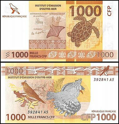 French Pacific 1,000 (1000) Francs, 2014, P-6, UNC