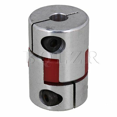 Silver D20L30 6mm x 6mm Flexible CNC Plum Coupling Shaft Coupler Aluminum