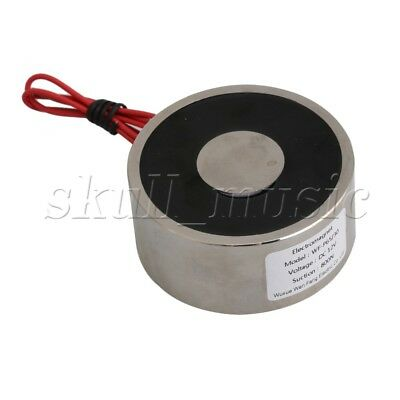 Silver Holding Electromagnet DC 12V 80Kg 65 x 30mm Simple Control