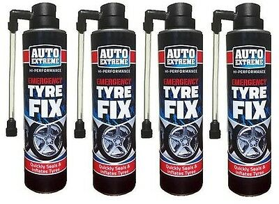 4x Instant Quick Puncture Repair Car Tyre Fix Sealant Inflates In Seconds 300ml