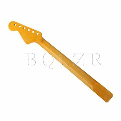 6 String Electric Guitar Maple Neck 22 Fret Yellow Polish Replacement BQLZR