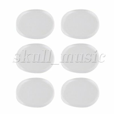 6PCS BQLZR Oval Shape Silicone Drum Silencer Pads Kits 33x25mm Blue