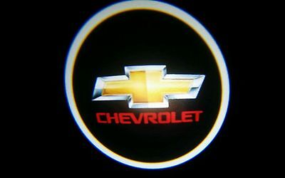 2X Wireless Car Door Led Projector Logo Ghost Shadow Light For CHEVROLET red