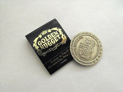 GOLDEN NUGGET CASINO Vintage Las Vegas $1 Slot Token & MATCHBOOK