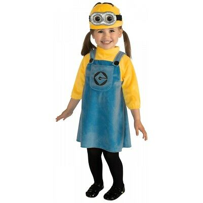 Minion Costume Toddler & Baby Girls Despicable Me Halloween Fancy Dress