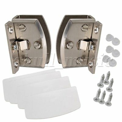 A Pair 90 Degree Side Mount Glass Door Cupboard Cabinet Clamp Hinge
