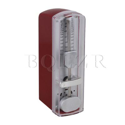 Portable Mechanical Metronome BQLZR Plastic Cover for Piano Red Color