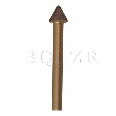 60 Degree 6x10x7mm CNC Engraving Emery Bit Brazed Diamond Tapered Drill