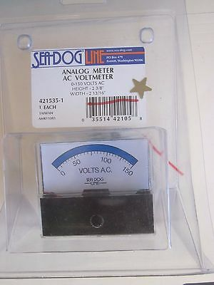 SeaDog Analog Meter AC Voltmeter  421535-1  Brand New in Package