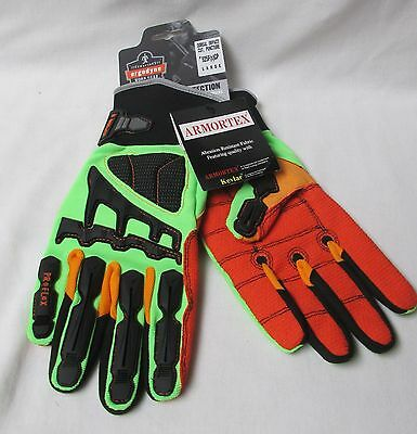 Proflex Oil Gas Gloves Dorsal Impact Cut Puncture Resistant 925Fx Cp Large New