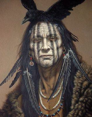 Lone Ranger Native American Art Tonto of the Comanche Wild West Art Oil Painting